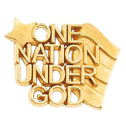 14K Gold One Nation Under God Lapel Pin