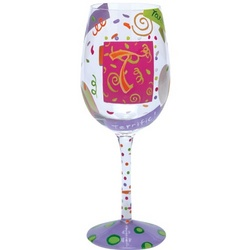 """T"" Wine Glass"