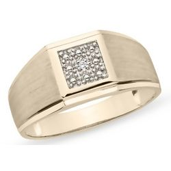 Men's Sterling Silver Diamond Ring