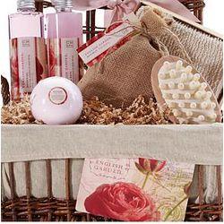 English Rose Garden Bath & Body Spa Basket
