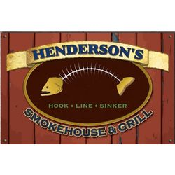 Personalized Seafood Grill Sign