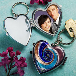 Murano Glass Keychain Locket Favor