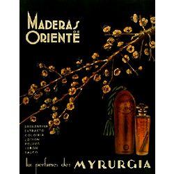 Vintage Maderas de Oriente Perfume Cuban Ad Poster