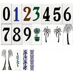 2x4 Standard Style Ceramic House Number