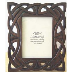 Full Celtic Knot Carved Wood Picture Frame