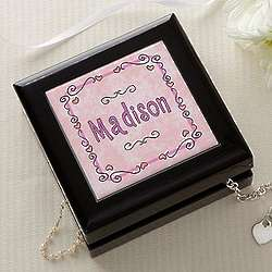 Pretty in Pink Personalized Jewelry Box