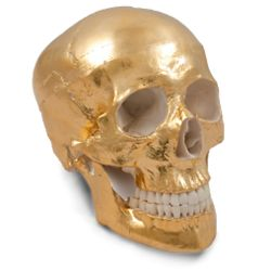 24 Karat Gold Skull