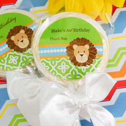 Personalized Jungle Safari Lollipops
