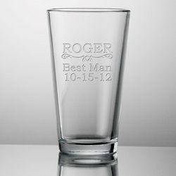 Best Man Customized Pint Glass