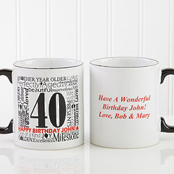 Large Another Year Gone By Personalized Coffee Mug