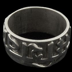 Om Mani Padme Sterling Mantra Ring