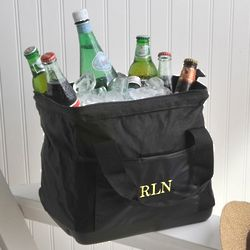 Embroidered Wide-Mouth Ice Cooler Bag