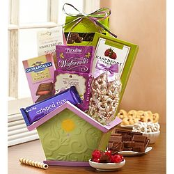 Bloomin' Spring Birdhouse Sweets Basket