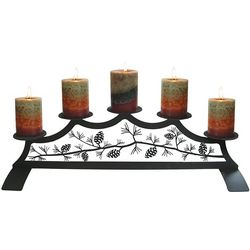 Pine Cone Fireplace Candelabrum