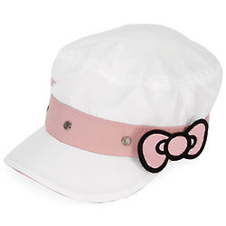 Hello Kitty White and Pink Tennis Cadet Cap