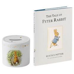 Peter Rabbit Christening Money Box and Book Set