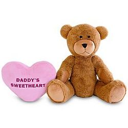 Personalized Giant Teddy Bear with Pink Plush Heart
