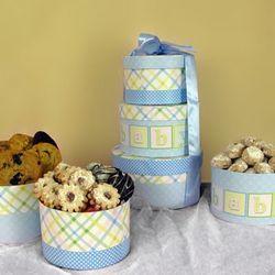 David's Cookies Baby Boy Tower