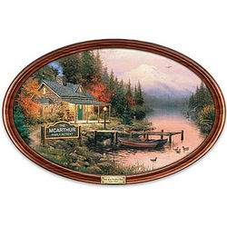 End of a Perfect Day Collector Plate with Family Name