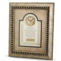 Footprints in the Sand Picture Frame Clock