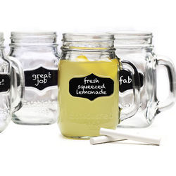 Chalk It Up Mason Jar Glasses