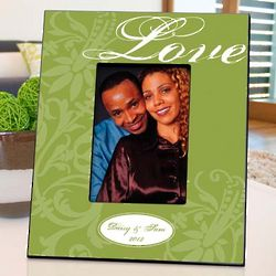 Personalized Green Love Couple's Picture Frame
