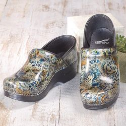 Floral Patent Leather Clogs