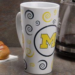 Michigan Wolverines Ceramic Swirl Latte Mug