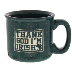 Thank God I'm Irish Campfire Mug in Green