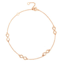 Infinity Anklet in Rose Gold