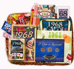50th Anniversary or 50th Birthday Gift Basket for 1968