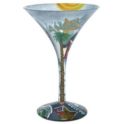 LA-tini Martini Glass