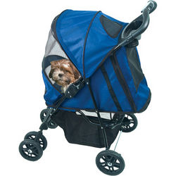 Blue Happy Trails Pet Stroller