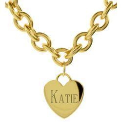 Tiffany Inspired Stainless Steel Gold Heart Tag Necklace