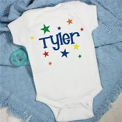 """A Star is Born"" Personalized Infant Creeper"