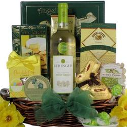 Beringer Pinot Grigio Gourmet Easter Wine Gift Basket