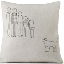 Personalized Embroidered Family Pillow
