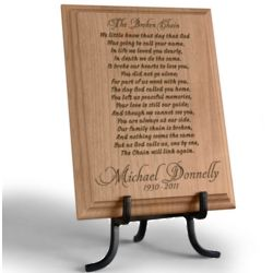 Personalized Broken Chain Wooden Plaque