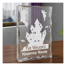 Personalized Haunted House Plaque