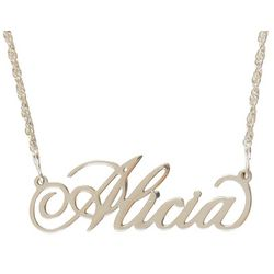 Personalized Filigree Name Necklace in Elegance Font