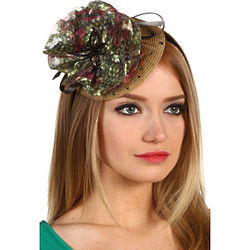Green Silk Organza Headband