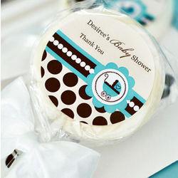 Personalized Blue Baby Shower Lollipop Favors