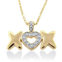 XOX Diamond Accent Gold Plated Pendant