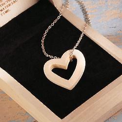 Mammoth Ivory Heart Pendant