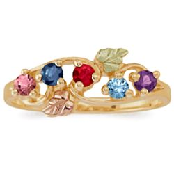 Mother's Birthstone Gold Ring