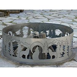 Decorative Wolves Fire Ring
