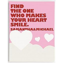 Personalized Heart Smile Quote Wall Art