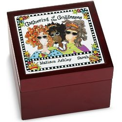 Personalized Gathering of Goddesses Tile Box