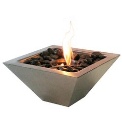 Gel-Fueled Stainless Steel Tabletop Fireplace