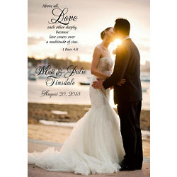 Personalized Custom Photo Wedding Canvas with Verse
